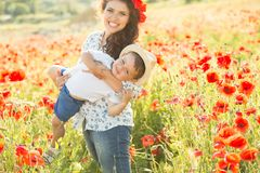 Young mother with her son Royalty Free Stock Image