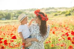 Young mother with her son Royalty Free Stock Photo