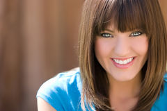 Smiling Brunette Woman Royalty Free Stock Images