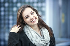 Smiling brunette woman Royalty Free Stock Image