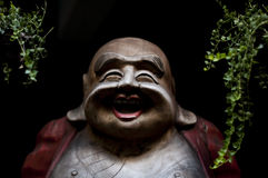 Smiling Buddha. Figure in one of Bangkok hotels Royalty Free Stock Photography