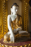 Smiling Buddha. A smiling Buddha in the famous Shwedagon Pagoda, Yangon, Burma, Myanmar, Southeast Asia Royalty Free Stock Photography
