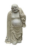 Smiling Buddha - Chinese God of Happiness. Wealth and Lucky Isolated on white Stock Photos