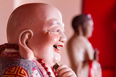 Smiling Buddha - Chinese God of Happiness, Wealth and Lucky Royalty Free Stock Photography