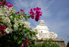 Smiling Buddha in one of the Buddhist pagodas in Vietnam. Stock Photo