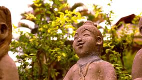 Smiling Buddha sculpture, Thailand. Video macro. Shift motion 1920*1080 stock video
