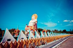 Smiling Buddha statue in Koh Samui, Thailand Royalty Free Stock Images