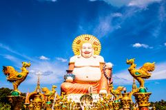 Smiling Buddha statue in Koh Samui, Thailand Royalty Free Stock Image