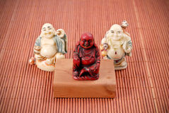 Smiling Buddhas Royalty Free Stock Image