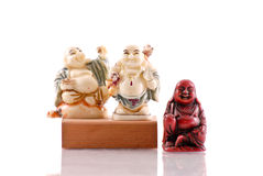 Smiling Buddhas Stock Photography