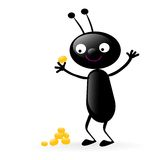 Smiling bug holding food Royalty Free Stock Photo