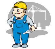 Smiling builder Royalty Free Stock Image
