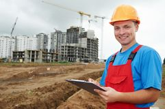 Smiling Builder inspector at Stock Photography