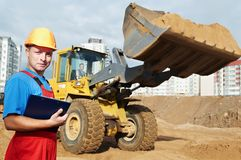 Smiling Builder inspector at Royalty Free Stock Photo