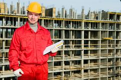 Smiling builder inspector worker Stock Image