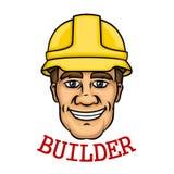 Smiling builder man in hard hat Royalty Free Stock Photos