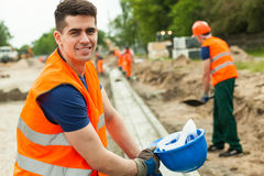 Smiling building worker Stock Photography