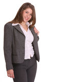 Smiling buisness woman in suit. Royalty Free Stock Photos