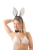 Smiling Bunny girl Stock Images