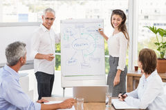Smiling business colleagues conducting presentation Stock Photography
