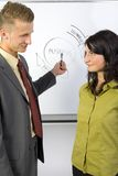 Smiling business couple Stock Image