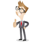 Smiling Business Giving The Thumbs Up Stock Images