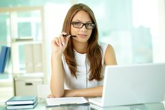 Smiling business lady Stock Photos