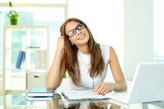 Smiling business lady Royalty Free Stock Photo