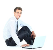 Smiling business man Stock Images