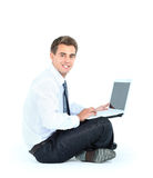 Smiling business man Royalty Free Stock Photo