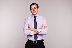 Smiling business man in formal wear. Success. Stock Photo
