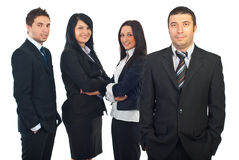 Smiling business man and his team Stock Photography
