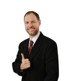 Smiling business man hold thumb up Royalty Free Stock Image