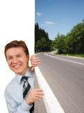 Smiling Business Man Holding A Image Stock Photography