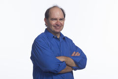 Smiling business man, horizontal Royalty Free Stock Photos