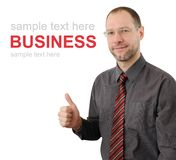 Smiling business man isolated on white Stock Images