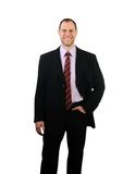 Smiling business man isolated on white Royalty Free Stock Photos