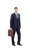 Smiling business man isolated on white Royalty Free Stock Images