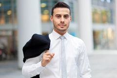 Smiling business man portrait outdoor Royalty Free Stock Photo