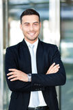 Smiling business man portrait outdoor Stock Image