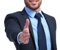 Smiling business man ready to seal the deal Stock Image