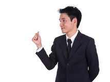 Smiling business man thinking Stock Image