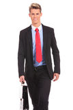 Smiling business man walking Royalty Free Stock Photography