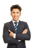Smiling business manager frontal Stock Photo
