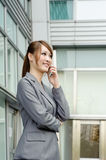 Smiling business manager woman Stock Photo