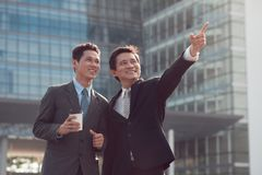 Smiling business partners Stock Image