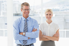 Smiling business partners looking at camera Royalty Free Stock Photography