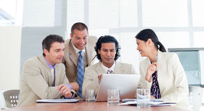 Smiling business partners in a meeting Stock Images