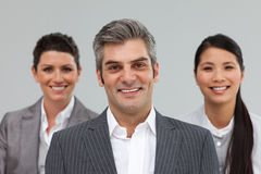 Smiling Business partners standing together Royalty Free Stock Photography