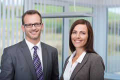 Smiling business partners Royalty Free Stock Photography